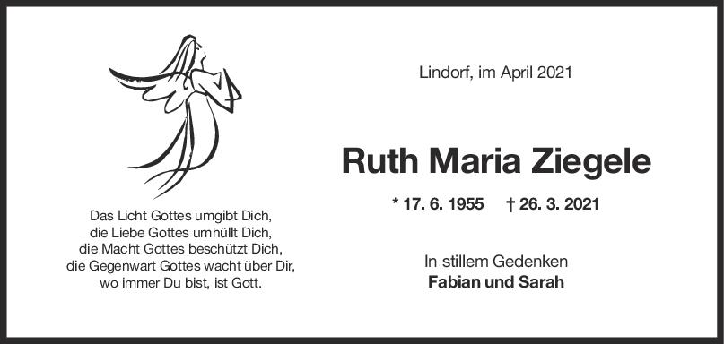 Trauer Ruth Ziegele <br><p style=