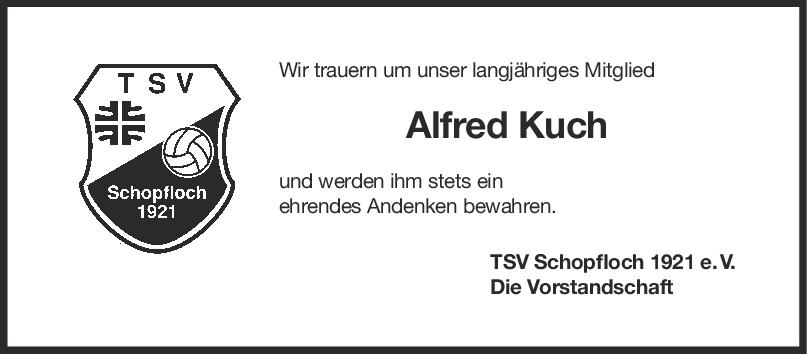 Nachruf Alfred Kuch <br><p style=