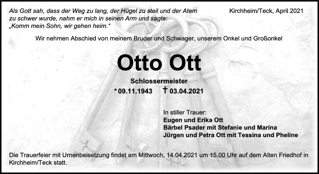 Trauer Otto Ott <br><p style=