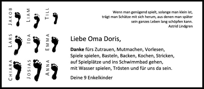 Nachruf Oma Doris <br><p style=