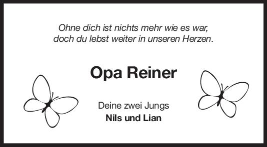 Nachruf Opa Reiner Kerzinger <br><p style=