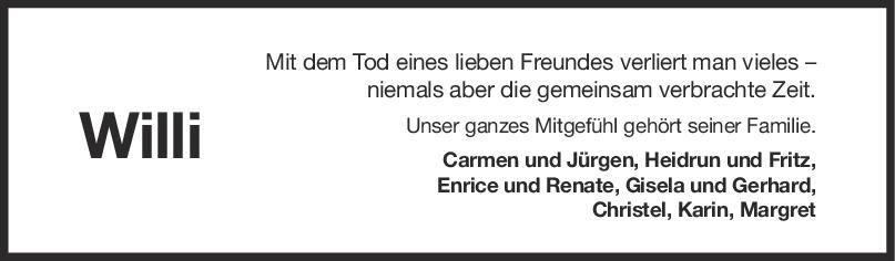 Nachruf Willi Lepadusch <br><p style=