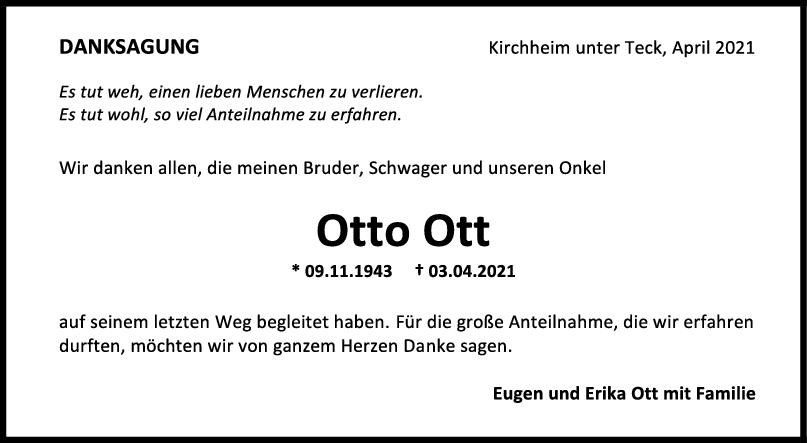 Danksagung Otto Ott <br><p style=