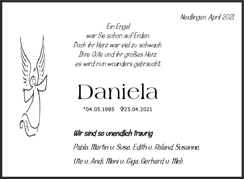 Nachruf Daniela Grüning <br><p style=