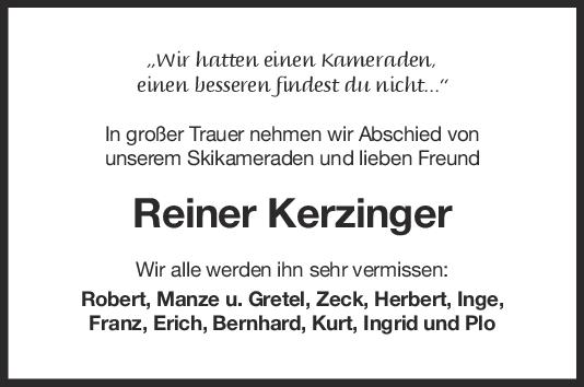 Nachruf Reiner Kerzinger <br><p style=