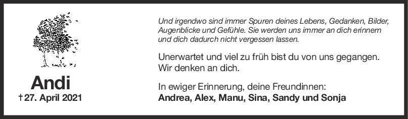 Nachruf Andrea Grolig <br><p style=