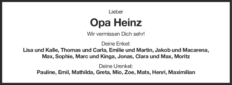 Nachruf Opa Heinz Herrmann <br><p style=