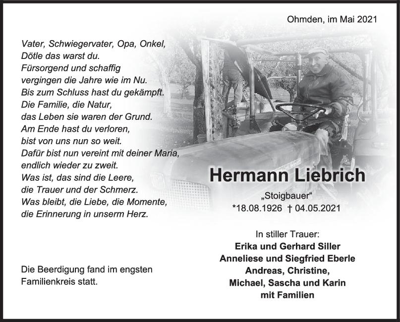Trauer Hermann Liebrich <br><p style=