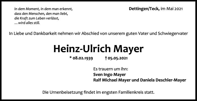 Trauer Heinz Ulirch Mayer <br><p style=