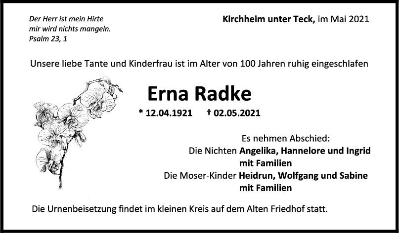Trauer Radke <br><p style=