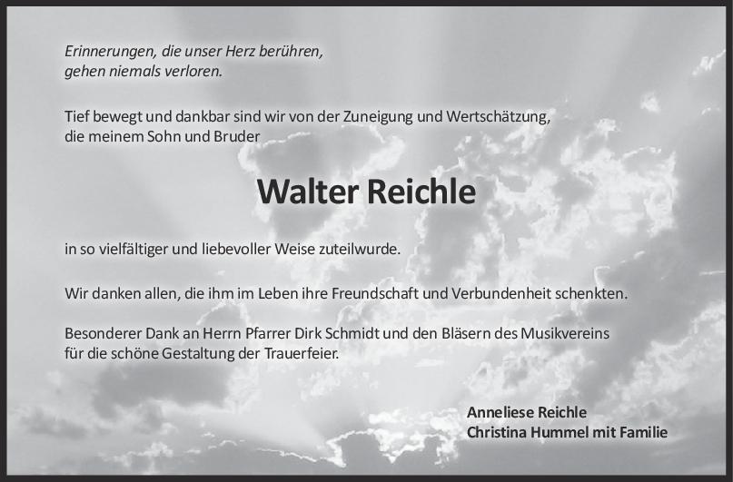 Danksagung Walter Reichle <br><p style=