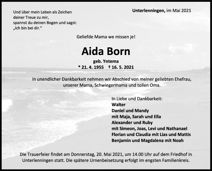 Trauer Aida Born <br><p style=