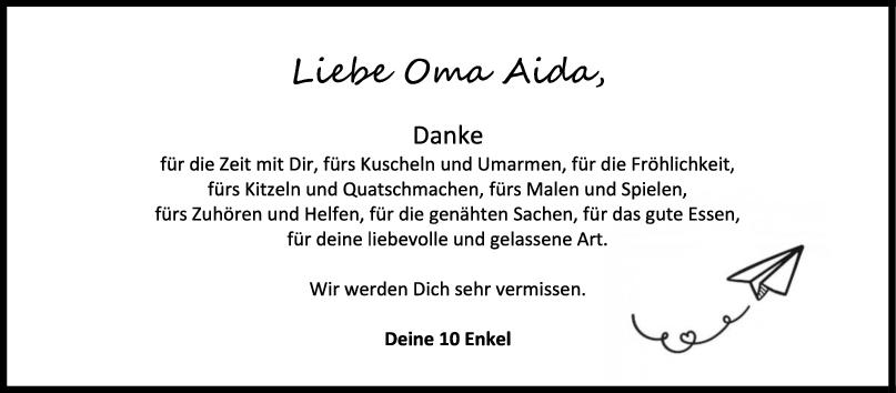 Nachruf Aida Born <br><p style=