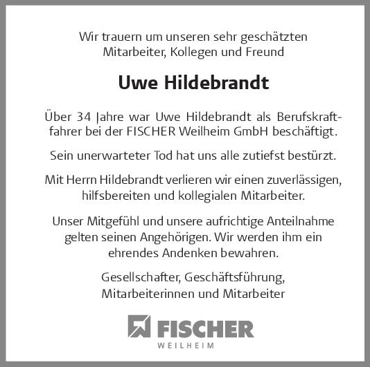 Nachruf Uwe Hildebrandt <br><p style=