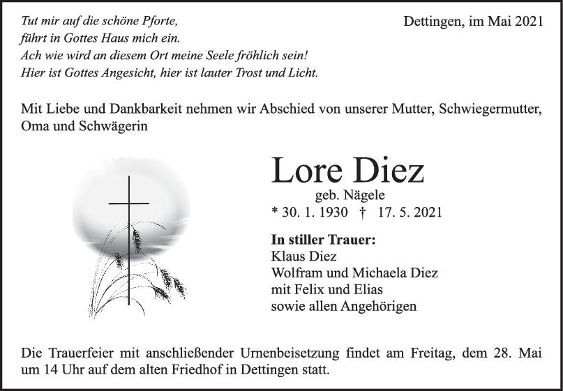 Trauer Lore Diez <br><p style=