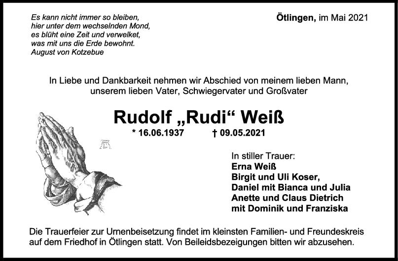 Trauer Rudolf