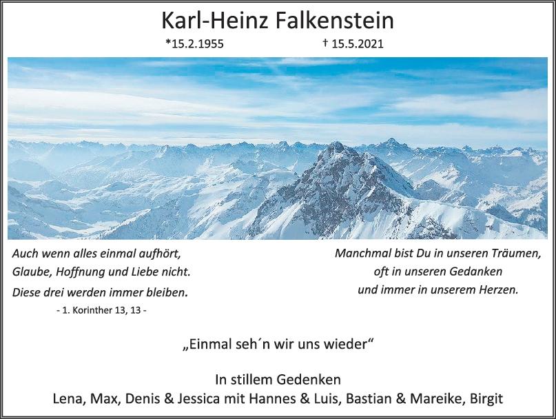 Trauer Karl-Heinz Falkenstein <br><p style=