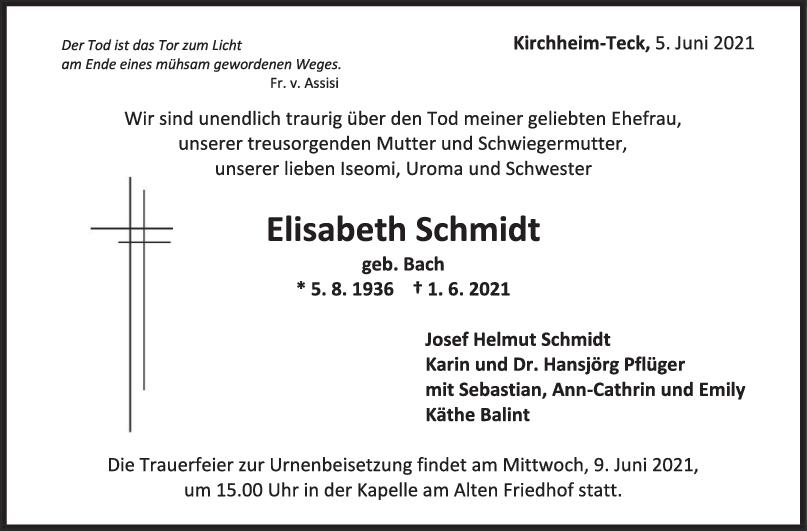 Trauer Elisabeth Schmidt <br><p style=