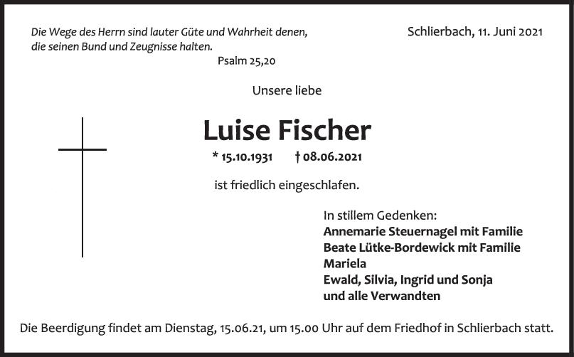 Trauer Luise Fischer <br><p style=