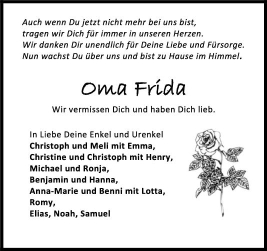 Trauer Oma Frida <br><p style=