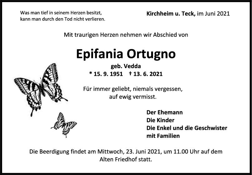 Trauer Epifania Ortugno <br><p style=