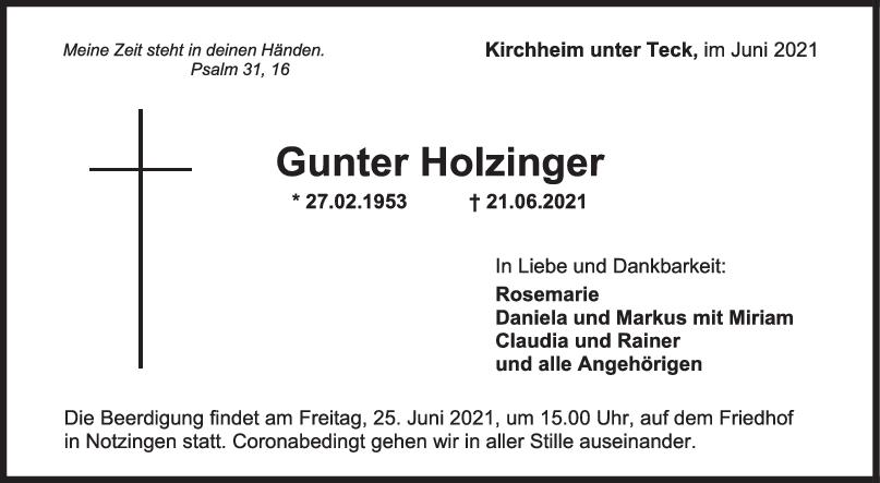 Trauer Gunter Holzinger <br><p style=