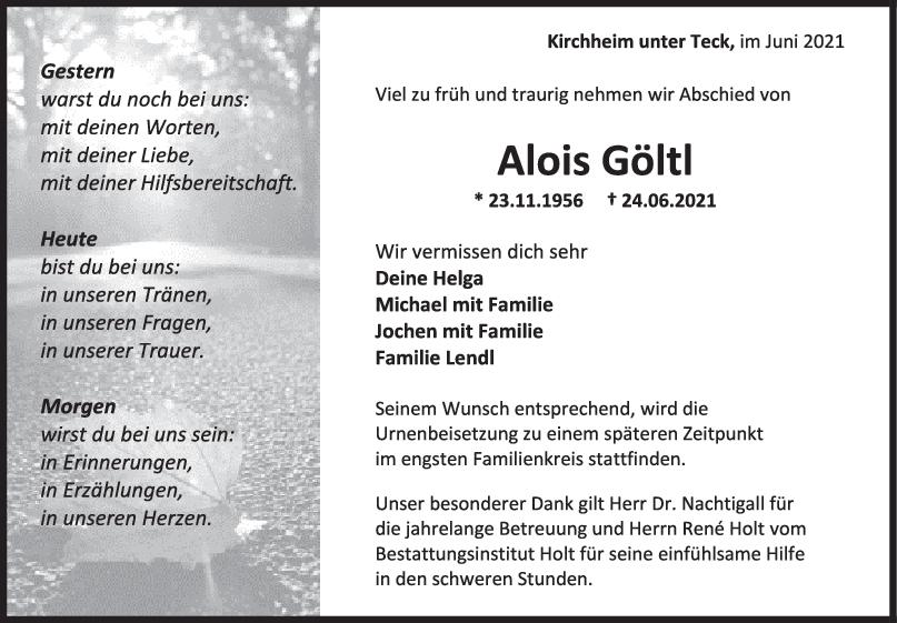 Trauer Alois Göltl <br><p style=