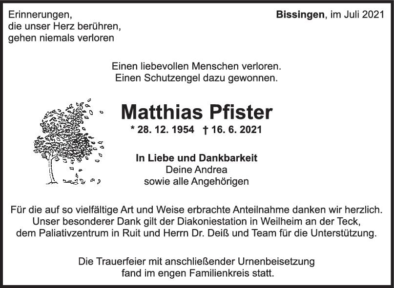 Trauer Matthias Pfister <br><p style=