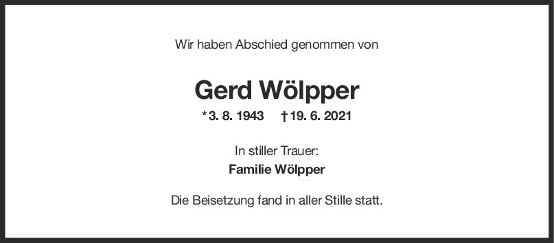 Trauer Gerd Wölpper <br><p style=
