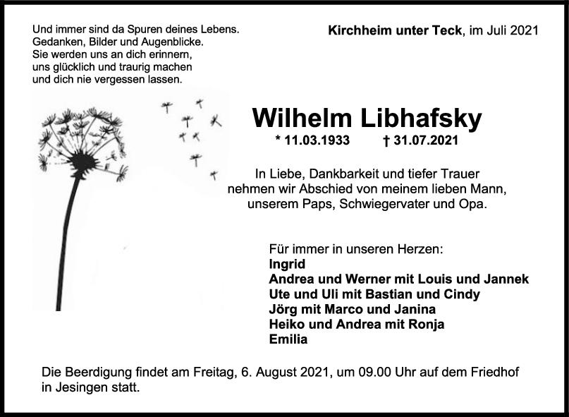 Trauer Wilhelm Libhafsky <br><p style=