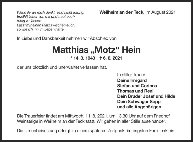 Trauer Matthias