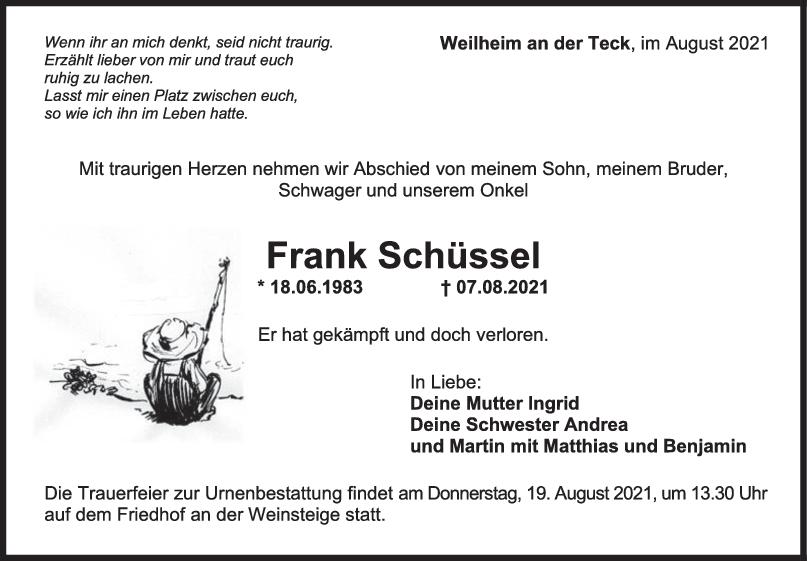 Trauer Frank Schüssel <br><p style=