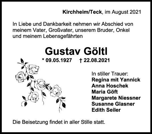 Trauer Gustav Göltl <br><p style=