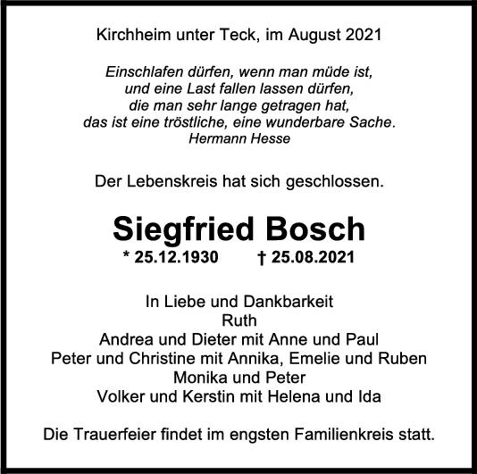 Trauer Siegfried Bosch <br><p style=