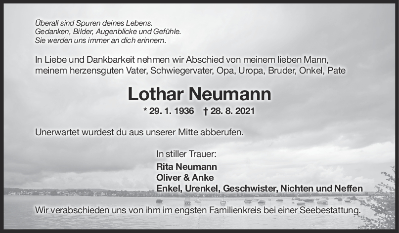 Trauer Lothar Neumann <br><p style=