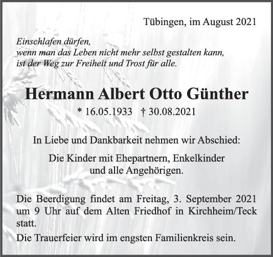 Trauer Hermann Günther <br><p style=