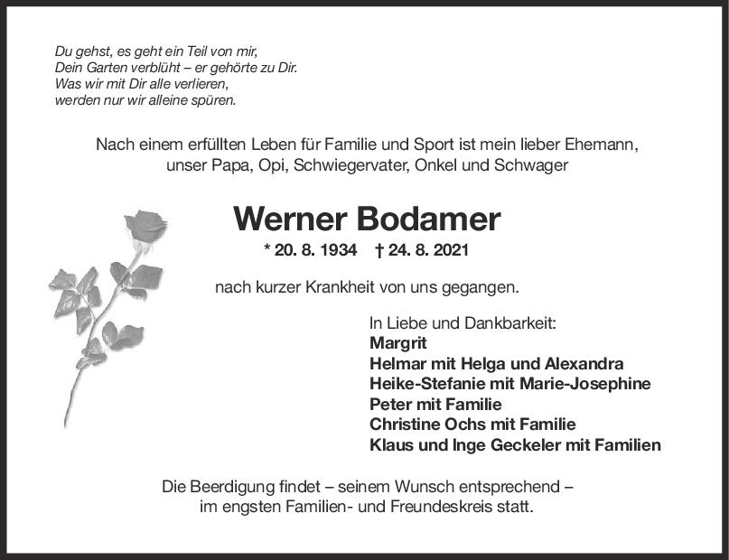 Trauer Werner Bodamer <br><p style=