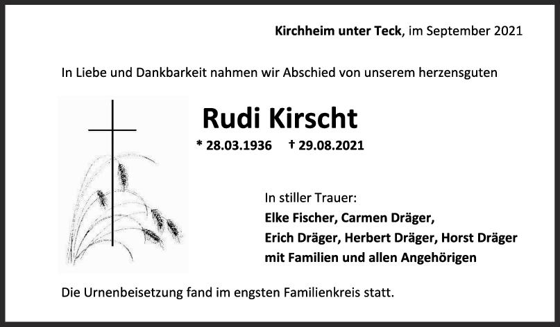 Trauer Rudi Kirscht <br><p style=