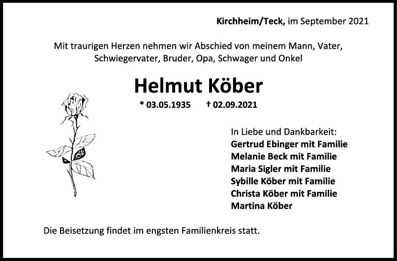 Trauer Helmut Köber <br><p style=