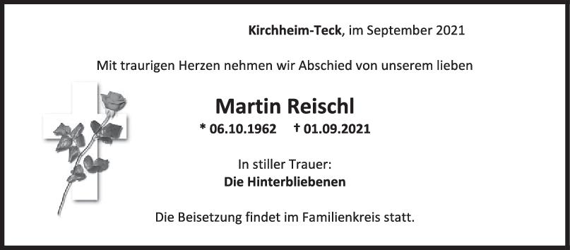 Trauer Martin Reischl <br><p style=
