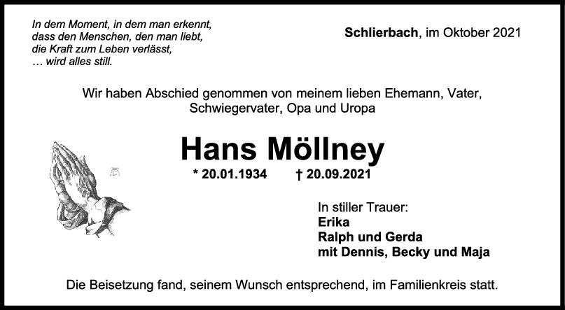 Trauer Hans Möllney <br><p style=
