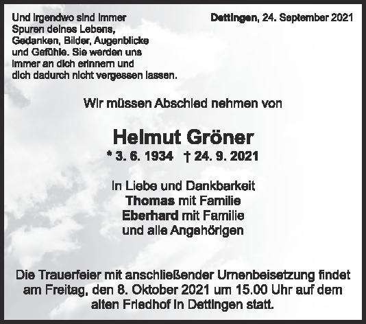 Trauer Helmut Gröner <br><p style=