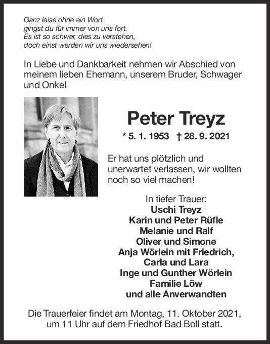 Trauer Peter Treyz <br><p style=